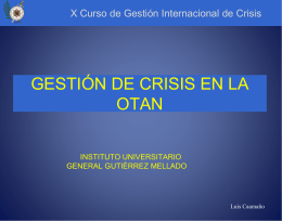 NATO CRISIS MANAGEMENT