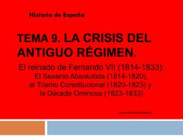 Tema 9. Fernando VII.