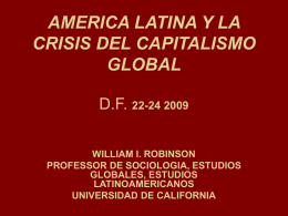 AMERICA LATIN Y LA CRISIS DEL CAPITALISM GLOBAL …