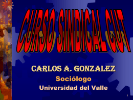 CURSO SINDICAL CUT MODULO II