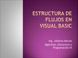 Estructura de Flujos en Visual Basic