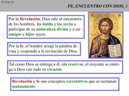 FE, ENCUENTRO CON DIOS,1
