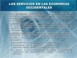 LOS SERVICIOS EN LAS ECONOMIAS OCCIDENTALES
