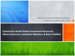 Community Health Needs Assessment Resources: Library