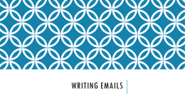 Writing Emails - web-dev