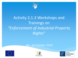 Activity 2.1.3 Workshops and Trainings