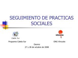 SEGUIMIENTO DE PRACTICAS SOCIALES