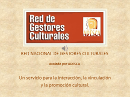 RED NACIONAL DE GESTORES CULTURALES