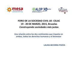 FORO DE LA SOCIEDAD CIVIL UE- CELAC, 19