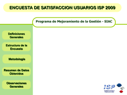 Satisfaccion Usuarios ISP 2006