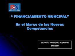 """FINANCIAMIENTO MUNCIPAL"""" En el Marco de las Nuevas"""