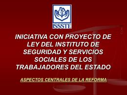 INICIATIVA DE LEY DEL ISSSTE