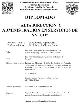 Diapositiva 1 - Videoteca Facultad de Medicina UNAM