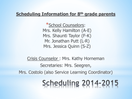 Scheduling 2012-13 - Carroll County Public Schools