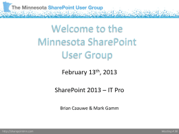 SharePoint 2013 - IT Professional