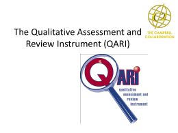 The Qualitative Assessment and Review Instrument (QARI)