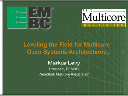 Benchmarks for Analyzing Embedded Multicore …