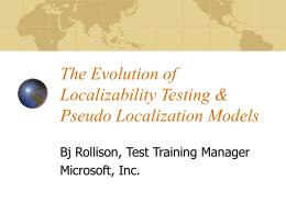 Localizability Testing & Pseudo Localization Modeling