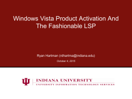 Presentation Title - Indiana University