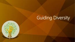 Guiding Diversity