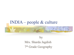 INDIA – its people