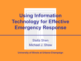 Using Information Technology for Effective Emergency …