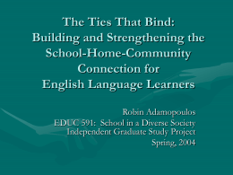 The Ties That Bind: Building and Strengthening the School