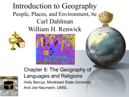 Introduction to Geography - University of Missouri–St. …