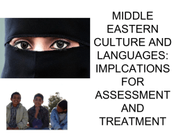 MIDDLE EASTERN CULTURE AND LANGUAGES: …