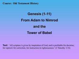 Genesis 1-11 - Bible Teaching Program