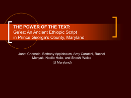 The Power of the Text -Ge'ez Full PowerPoint