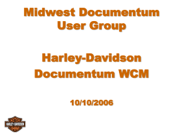 Harley Davidson implementing WCM