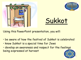 Sukkot - Welsh Government