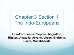 Chapter 3 Section 1 The Indo