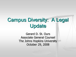 2-Campus Diversity: A Legal Update
