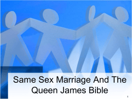 Same Sex Marriage - Fifth Street East