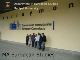 MA European Studies - Indian Institute of Technology …