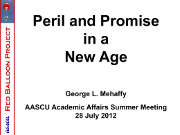 2012 Academic Affairs Summer Meeting