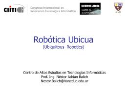 Inteligencia Artificial Aplicada a Robotica Movil