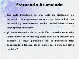Frecuencia Acumulada - estadisticadescriptivaizucar