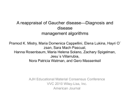 A reappraisal of Gaucher disease—Diagnosis and disease