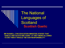 The Languages of Scotland