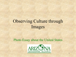 Observing Culture through Images