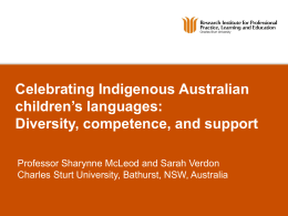 YTISHBDSYTEA - Australian Institute of Aboriginal and