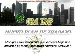NUEVO PLAN DE TRABAJO - Servicios Financieros