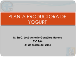PLANTA PRODUCTORA DE YOGURT