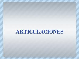 ARTICULACIONES DIARTROSIS