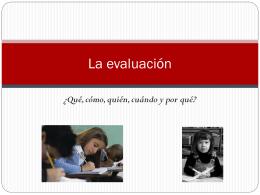 La evaluacion
