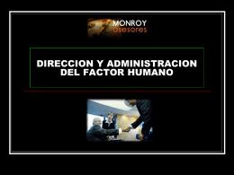 CURSO DIRECCION Y ADMINISTRACION DEL FACTOR …