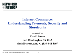 Internet Commerce: Understanding Payments, Security and